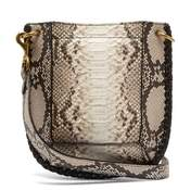 7352e83db35f Isabel Marant Nasko Python Effect Leather Cross Body Bag - Womens - Grey  Multi  1