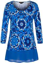 a595efedf24 Chicwe Women s Floral Printed Plus Size Tunic Top with Chiffon Hem 22   29.99 at Amazon Canada