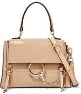 bad577dfde0 Chloé Faye Day Small Croc-effect Leather Shoulder Bag $2,447 at NET-A-